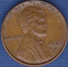 1947 D Lincoln Wheat Cent