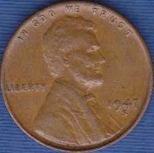 1947 S Lincoln Wheat Cent