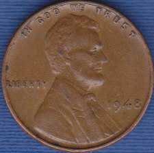 1948 P Lincoln Wheat Cent