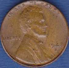 1948 S Lincoln Wheat Cent
