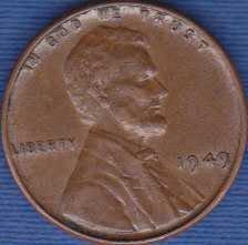 1949 P Lincoln Wheat Cent