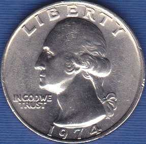 1974 P Washington Quarter