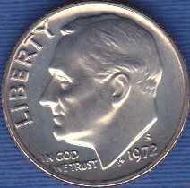 1972 S Roosevelt Dime