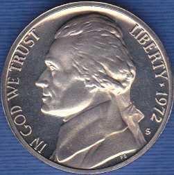 1972 S Jefferson Nickel