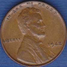 1942 P Lincoln Wheat Cent