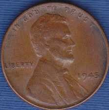 1945 P Lincoln Wheat Cent