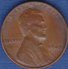 1945 P Lincoln Wheat Cent