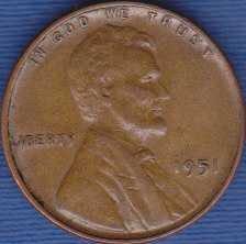 1951 P Lincoln Wheat Cent