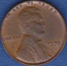 1955 P Lincoln Wheat Cent