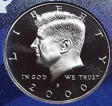 2000 S  PROOF  KENNEDY HALF DOLLAR