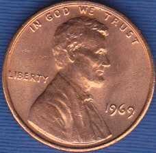 1969 P Lincoln Memorial Cent