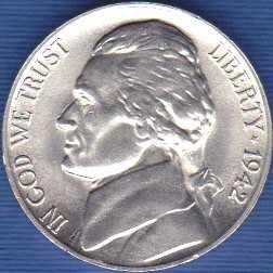1942 P Jefferson Nickel