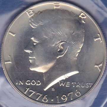 1976 S Kennedy Half Dollar