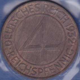 Germany 4 Reichspfennig 1932A