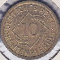 Germany 10 Rentenpfennig 1923A