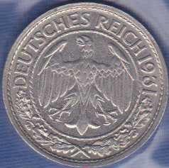 Germany 50 Reichspfennig 1931A