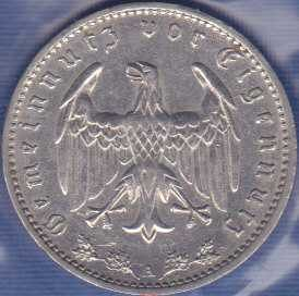 Germany 1 Reichsmark 1935A