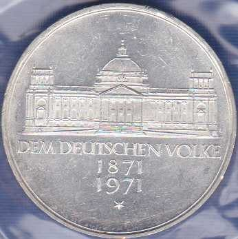Germany 5 Mark 1971G