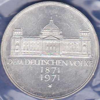Germany 5 Mark 1971G