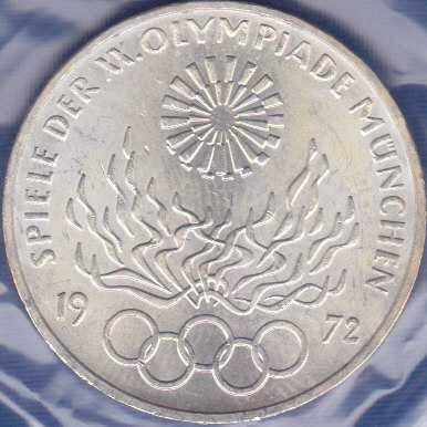 Germany 10 Mark 1972J