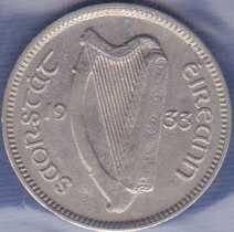 Ireland 3 Pence 1933