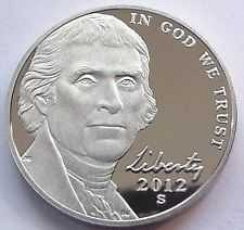 2012 S  PROOF  JEFFERSON NICKEL