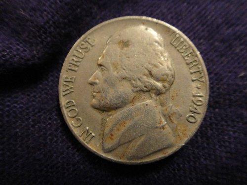 1940-D Jefferson Nickel Extra Fine-40