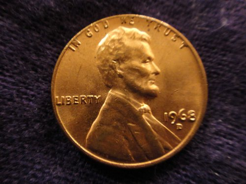 1968-D Lincoln Cent MS-64 (Near Gem) Red-Brown