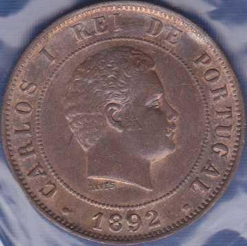 Portugal 20 Reis 1892
