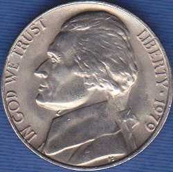 1979 P Jefferson Nickel