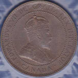 Canadian 1 Cent 1908