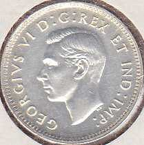 Canadian 10 Cents 1945