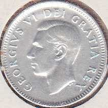 Canadian 10 Cents 1951
