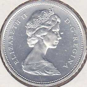 Canadian 25 Cents 1966