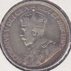 Canadian 25 Cents 1929