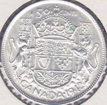 Canadian 50 Cents 1942
