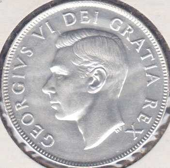 Canadian 50 Cents 1952