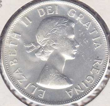 Canadian 50 Cents 1957