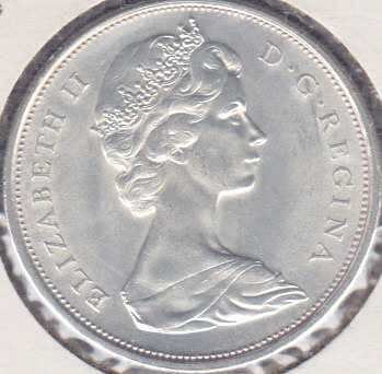 Canadian 50 Cents 1967