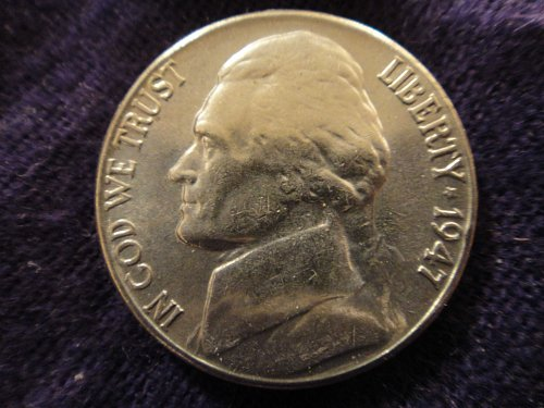 1947-S Jefferson Nickel MS-64 (Near Gem) 1 Step Near Full Steps