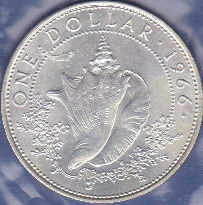 Bahamas 1 Dollar 1966