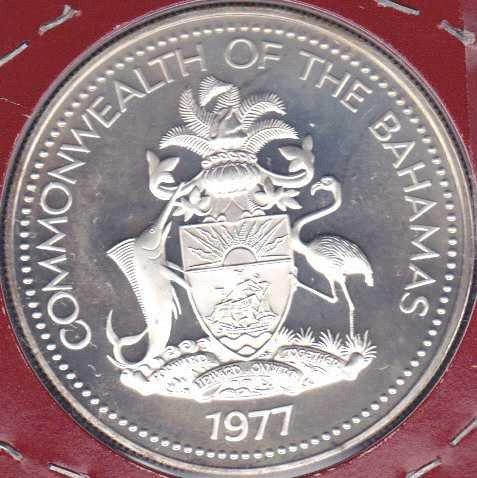 Bahamas 2 Dollars 1977