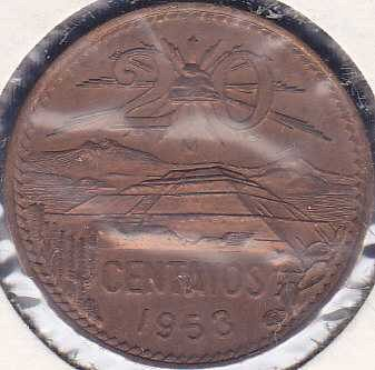 Mexico 20 Centavos 1953