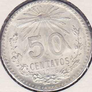 Mexico 50 Centavos 1945