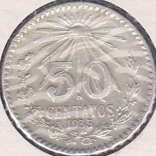 Mexico 50 Centavos 1935