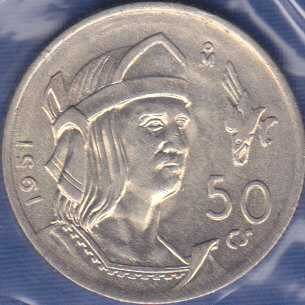 Mexico 50 Centavos 1951