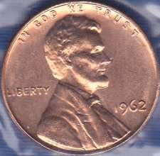 1962 P Lincoln Memorial Cent
