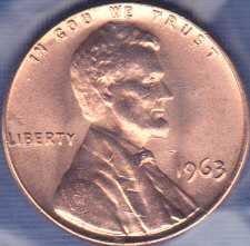 1963 P Lincoln Memorial Cent