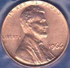 1966 P Lincoln Memorial Cent