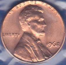 1968 P Lincoln Memorial Cent